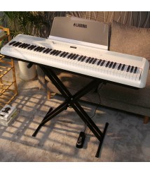 88 Key Full Size Electric Weighted Action Digital Piano Keyboard+ X Stand White