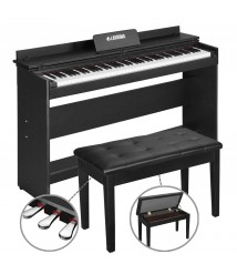 88 Key Electric Piano Keyboard w/Bench+3 Pedals+Board Adaptor Stand LCD Digital
