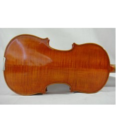 #820  Used/Old Beautiful 4/4 hand-made flamed back violin + Violin case